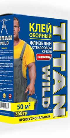 Клей обойный/36шт/TITAN WILD флиз,стекл. проф.350г/50кв.м