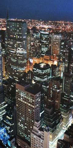 Ночной город Фотообои VIP 392см х 260см Тула