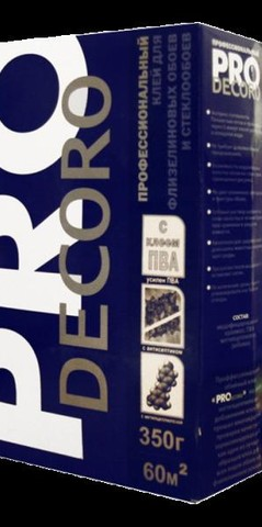Клей для флиз.обоев Decoro PRO 350гр 60кв.